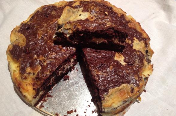 Брауни со сливочным сыром рецепт с фото