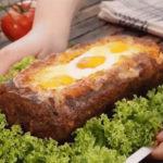 317 Рецепт М'ясний хліб з сирною начинкою