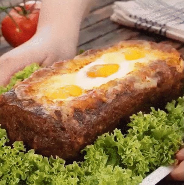 Рецепт М'ясний хліб з сирною начинкою