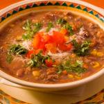 348 Рецепт Густий м'ясний суп з кабачками і томатами