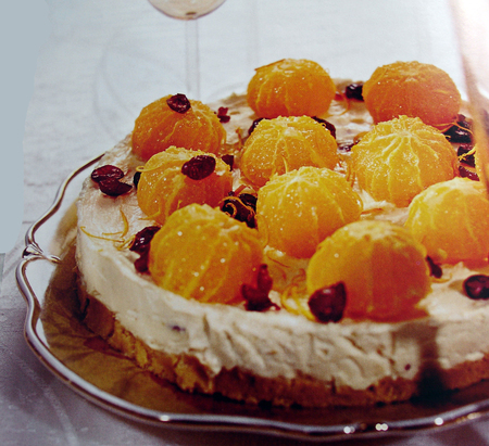 446 Рецепт Торт «Апельсини в хмарах»