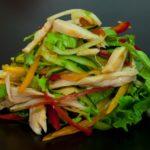 480 Рецепт Овочевий салат з копченою куркою «Улюблений»