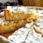 495 Рецепт Яблучний пиріг з вершковим кремом