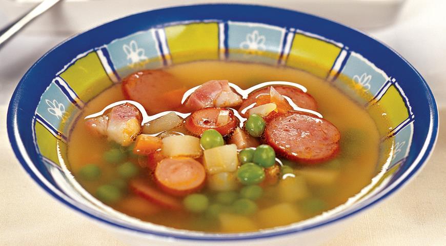 521 Рецепт Гороховий суп «Мисливський»