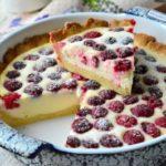 614 Рецепт Пісочний пиріг з сиром і малиною