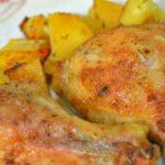 754 Курячі гомілки з картоплею