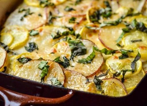 768 Запіканка овочева з копченим сиром