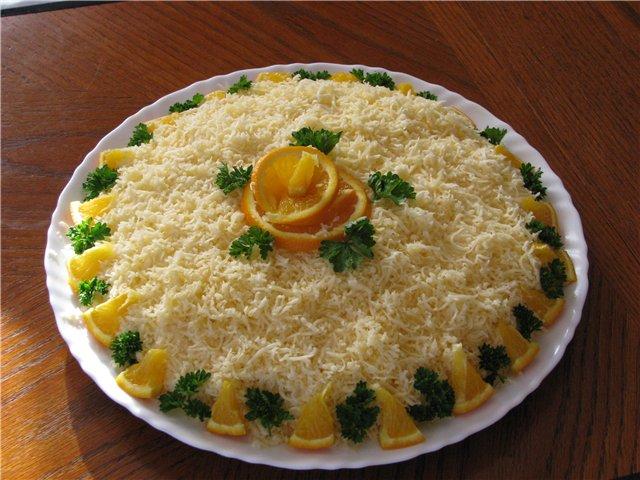 Салат з курки і апельсинів