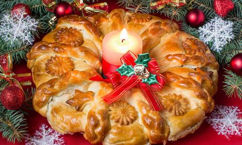 """Пиріг """" Різдвяний вінок """""""
