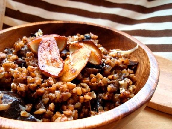 2787 Рецепт Гречка з печеними овочами і шампіньйонами