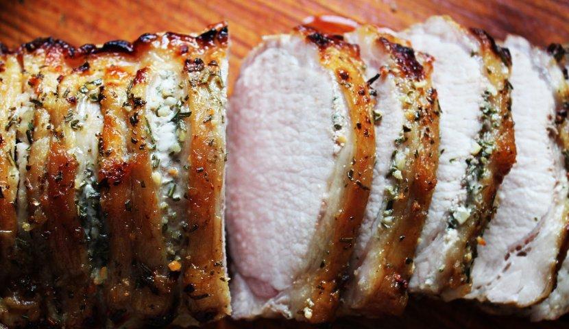 2789 Рецепт Запечена свиняча грудинка в пряному соусі