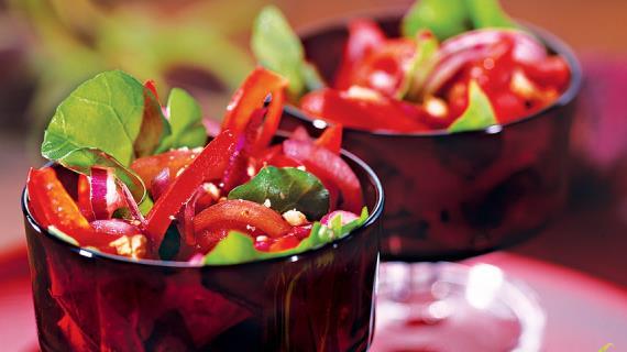 Рецепт Буряковий салат з інжиром