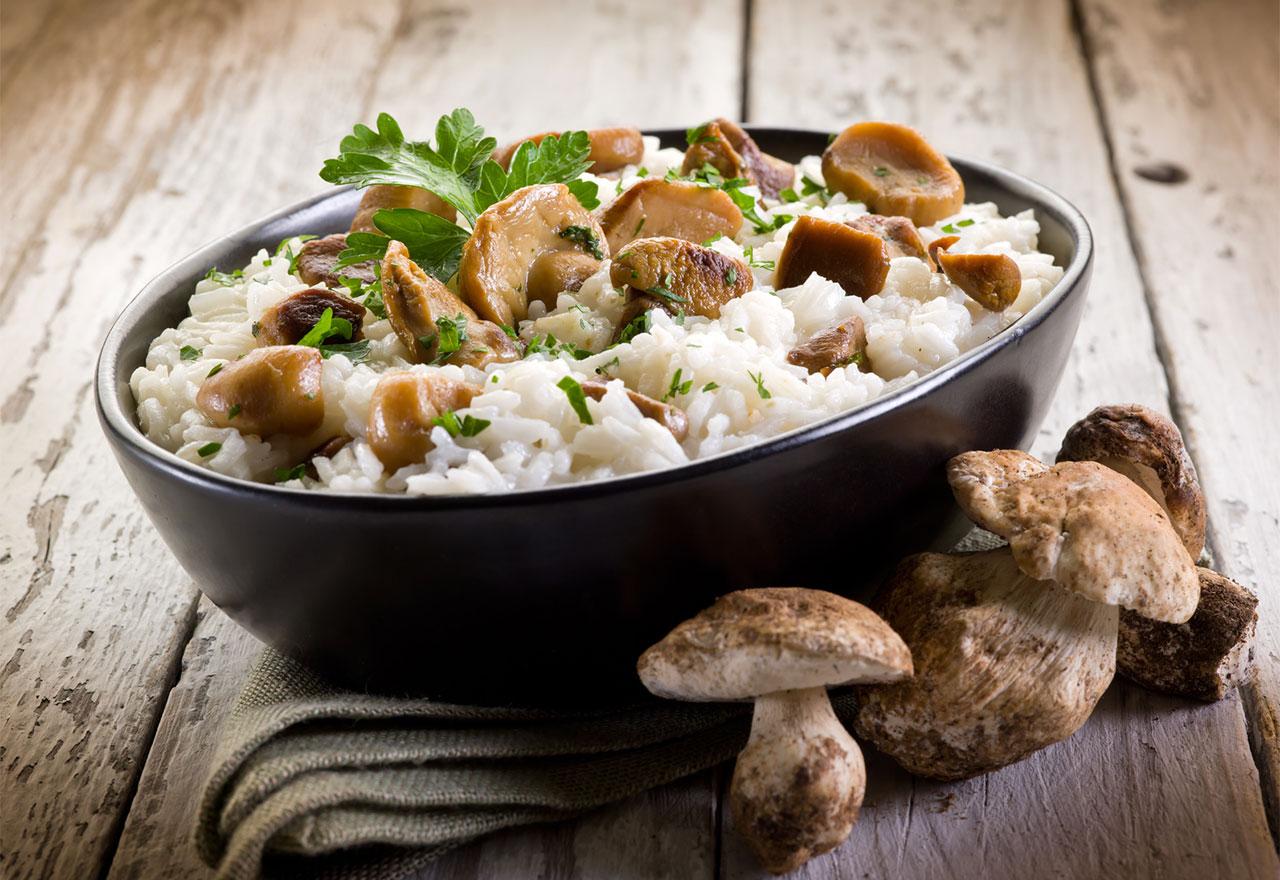 Рецепт Рис з грибною піджаркою