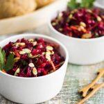 2814 Рецепт Буряковий салат зі шпинатом і рисом