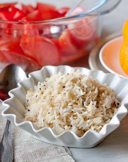 2820 Рецепт Рис з часником і чорним кунжутом