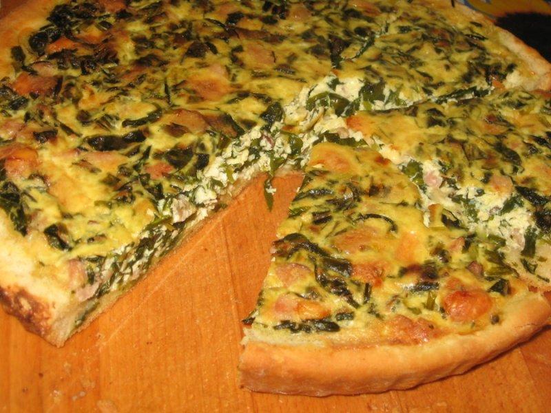 2873 Рецепт М'ясний пиріг з черемшею