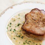 2875 Рецепт Свинина-гриль з вершково-гірчичним соусом