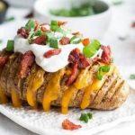 2886 Рецепт Картопля-гармошка з беконом і сиром