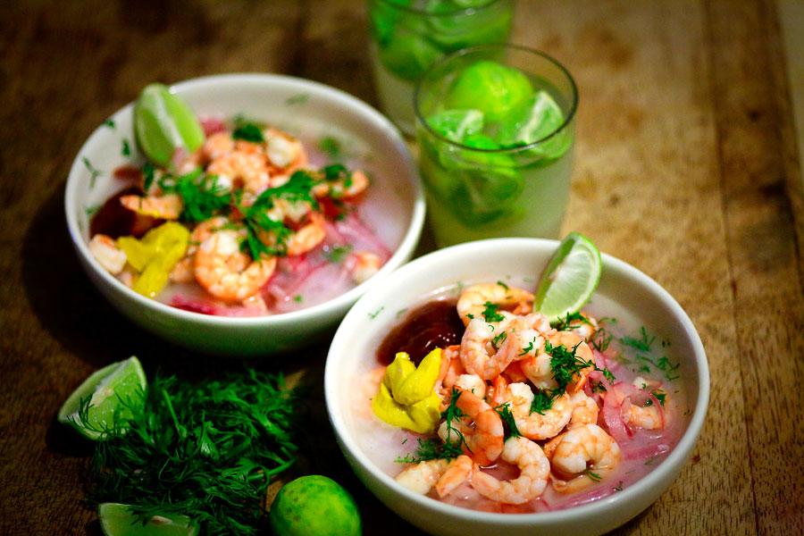 Рецепт Севіче з креветками екваторіанське