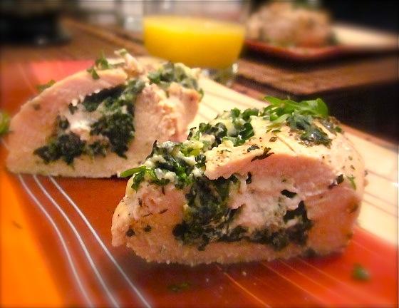 3060 Рецепт Курячі кишеньки з сирною зеленню