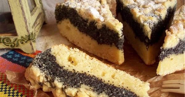 Рецепт Маковий пиріг з штрейзелем
