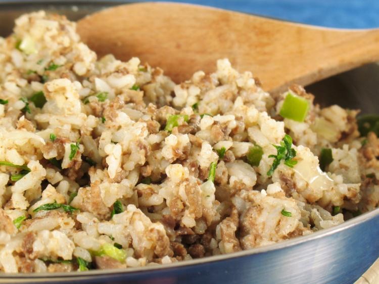 Рецепт Рис з фаршем і овочами