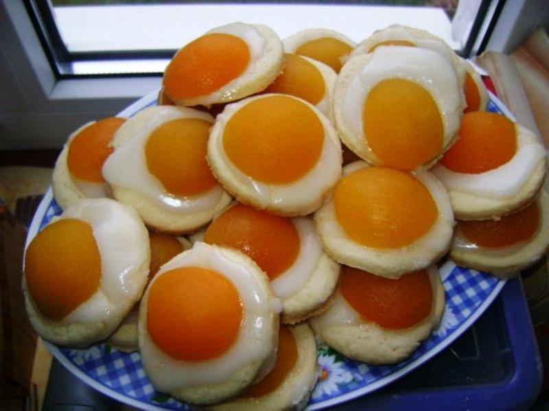 Рецепт Персикові медальйони з ванільним кремом