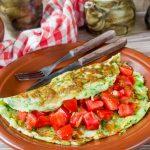 3150 Рецепт Кабачковий омлет з сиром і помідором