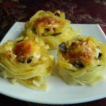 3172 Рецепт Тальятелле під сиром в томатному соусі