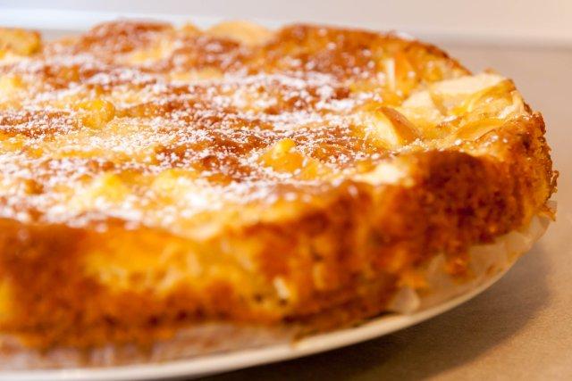 3233 Рецепт Творожно-яблучний пиріг з карамеллю
