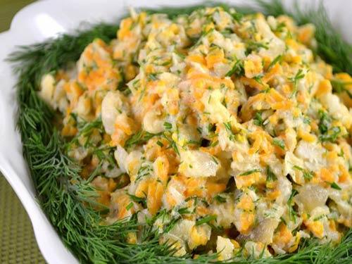3241 Рецепт Салат з минтая з квасолею