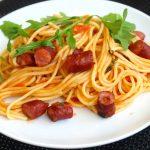 3245 Рецепт Паста з гарбузом, ковбасками і рікоттою