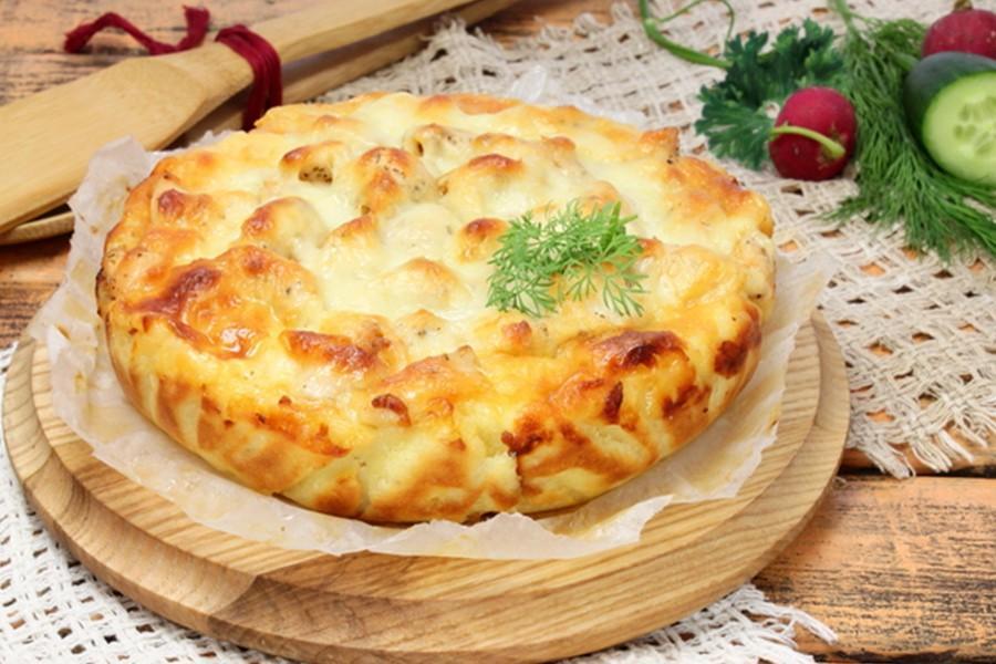 3254 Рецепт Капустяний пиріг з курячою грудкою