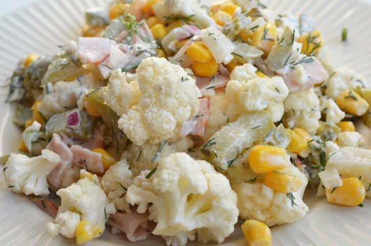 3256 Рецепт Салат з цвітної капусти з консервами