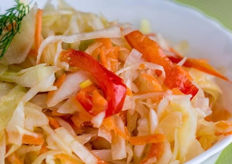 Рецепт Маринована капуста з болгарським перцем
