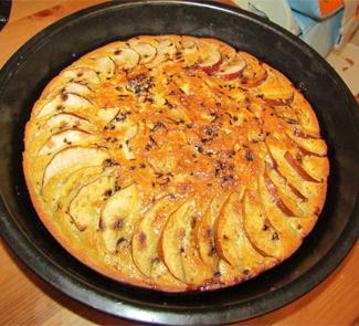 3293 Рецепт Запіканка з творогу і яблук
