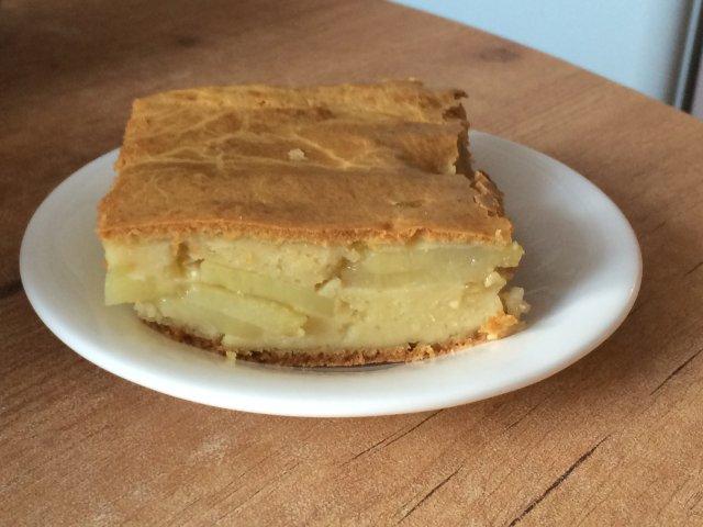 3356 Рецепт Заливний сирний пиріг з картоплею