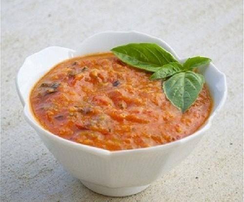 3368 Рецепт Томатно-сметанний соус з цибулею