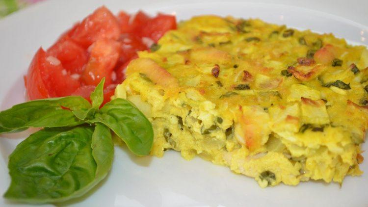 3444 Рецепт Запіканка з кабачків та картоплі