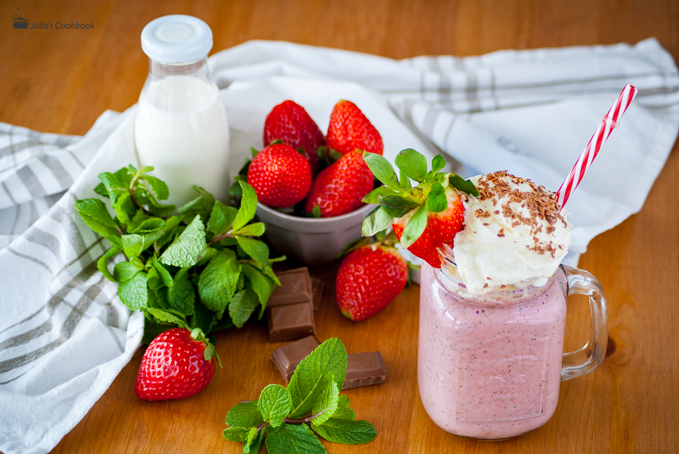 Рецепт Йогурт полунично-шоколадний