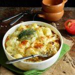 3488 Рецепт Запіканка з кольорової капусти з макаронами