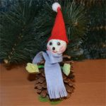 4331 Гномики из шишек и фетра: кукла одуванчик