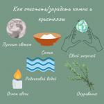 5886 Как очистить/зарядить камни и кристаллы